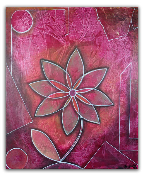 Acrylmalerei, Blumen, Malen, Blumen gemälde, Malerei, Lila