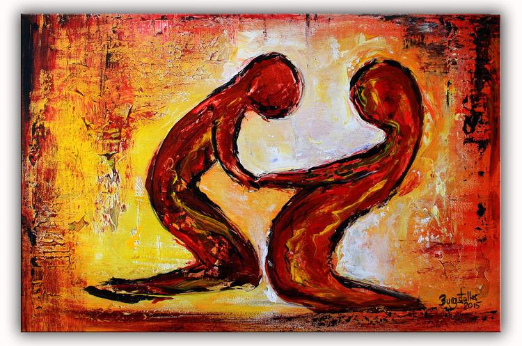 Gemälde, Malerei, Abstrakte gemälde, Figur, Abstrakte bilder, Geschenk