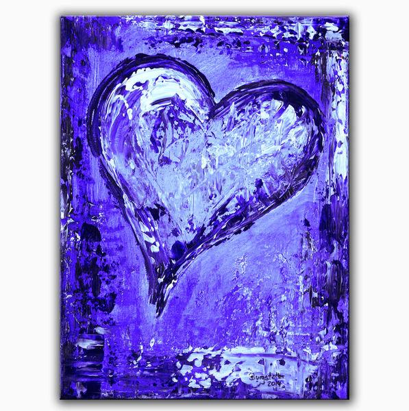 Partner, Abstrakte bilder, Abstrakte gemälde, Herz, Liebe, Muttertag