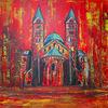 Malen, Gemälde, Rot, Acrylmalerei