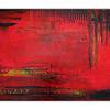 Malerei, Glut, Rot schwarz, Abstrakte acrylmalerei