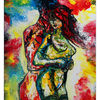 Abstrakte erotische malerei, Erotik, Gemälde, Wandbild