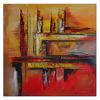 Gemälde, Nachwuchs, Orange, Abstrakte malerei
