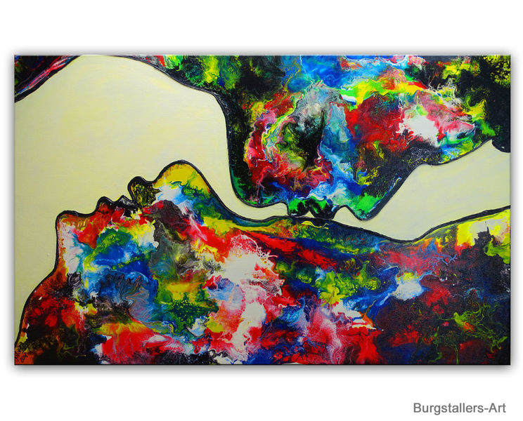 Kunst bild, Liebespaar, Gemälde original, Mann frau, Malen, Abstrakt