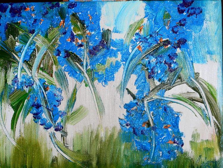 Blau, Regen, Grün, Malerei
