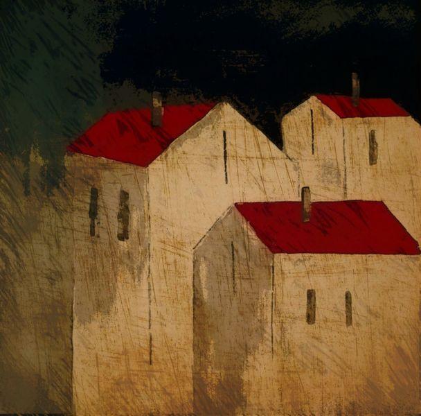 Rot, Architektur, Malerei, Haus