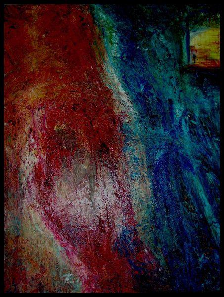Mischtechnik, Abstrakt, Landschaft, Malerei, Acrylmalerei, Ölmalerei
