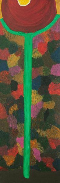 Muster, Blumen, Rot, Bunt, Grün, Acrylmalerei