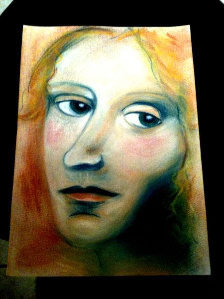 Portrait, Zeichnung, Pastellmalerei, Zeichnungen, Sehnsucht