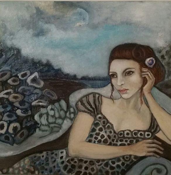 Augen, Frau, Upos posth, Blumen, Malerei, 2015