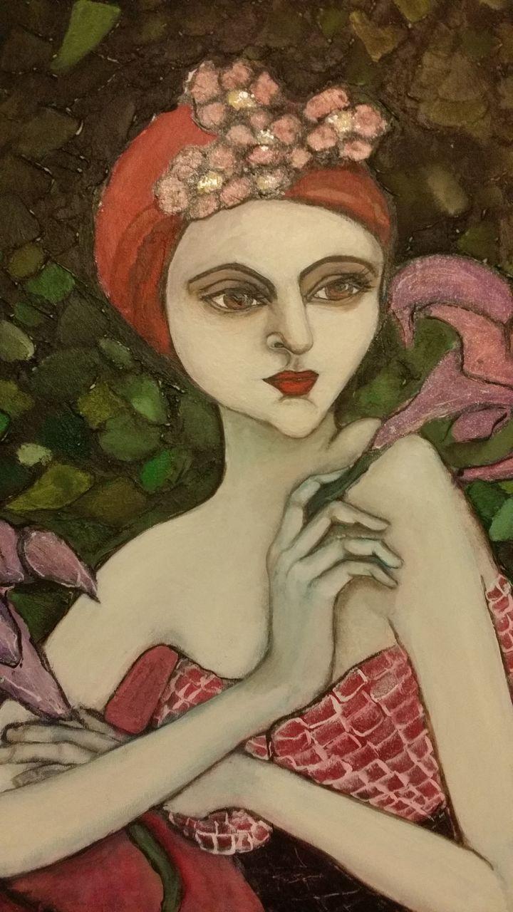 Jugendstil Malerei bild blumen jugendstil frau malerei upos bei kunstnet
