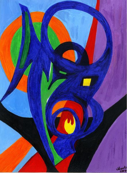 Fantasie, Rot schwarz, Assoziation, Formen, Dämon, Farben