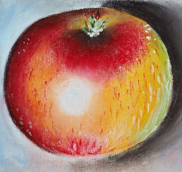 Leckerer apfel, Malerei, Pflanzen, Apfel
