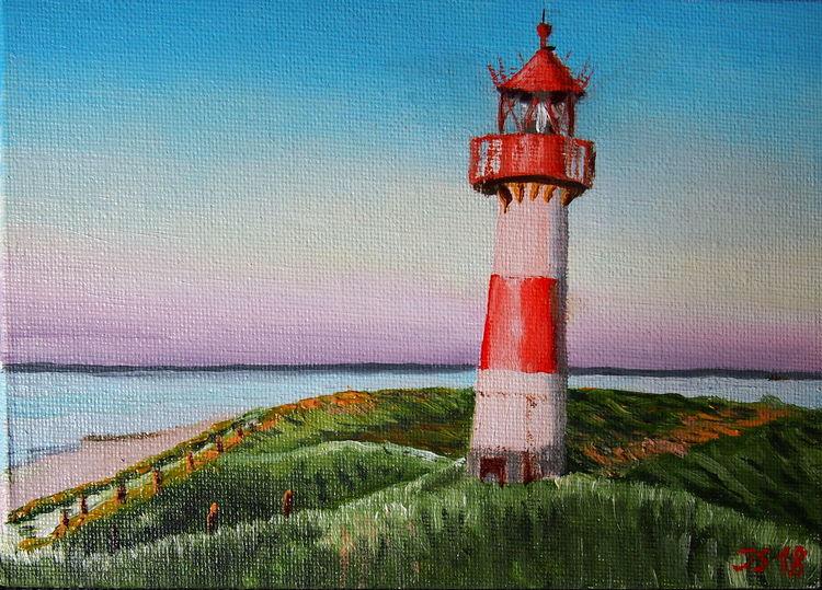 Liste, Sylt, Leuchtturm, Abendstimmung am meer, Dünen, Nordsee