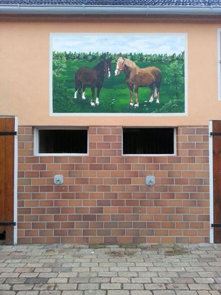 Pferde, Malerei, Wiese, Wandbild