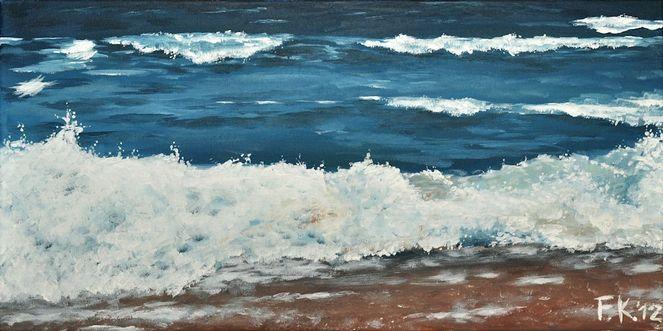 Natur, Welle, Wasseroberfläche, Küste, Blau, Gischt