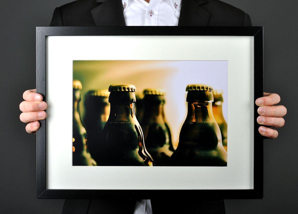 Image: Bierflaschen, Rahmen, Gerstensaft, Fotografie von Florian ...