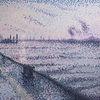 Hamburg, Impressionismus, Pastellmalerei, Sonnenaufgang