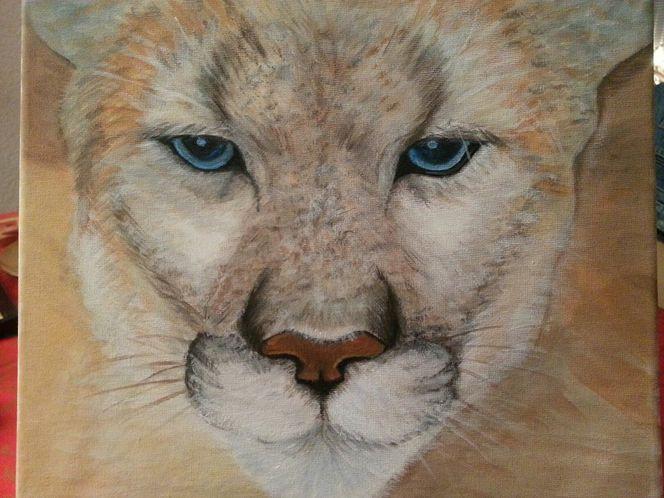 Puma, Acrylmalerei, Tiere, Malerei,