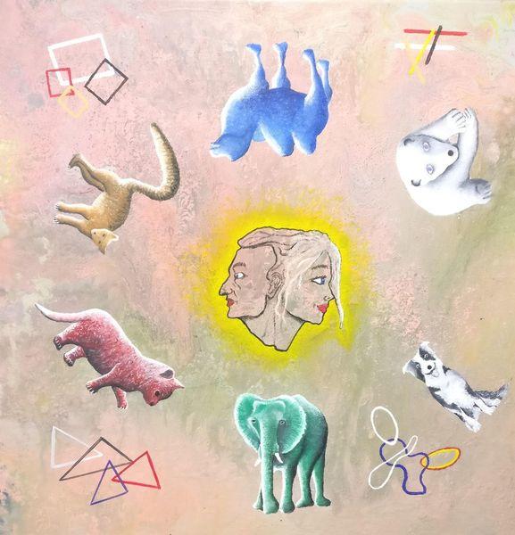 Surreal, Acrylmalerei, Malerei, Fantasie, Kreis