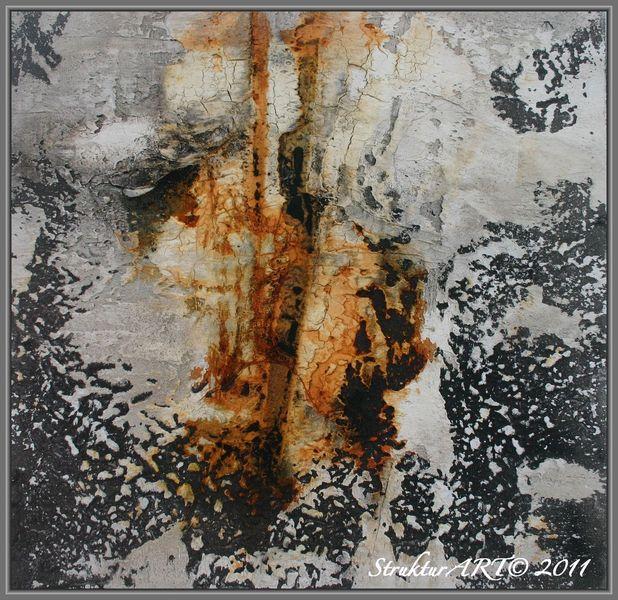 Zeitgenössische kunst, Leinöl, Marmormehl, Beize, Pigmente, Malerei