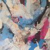Struktur, Acrylmalerei, Marmormehl, Abstrakt