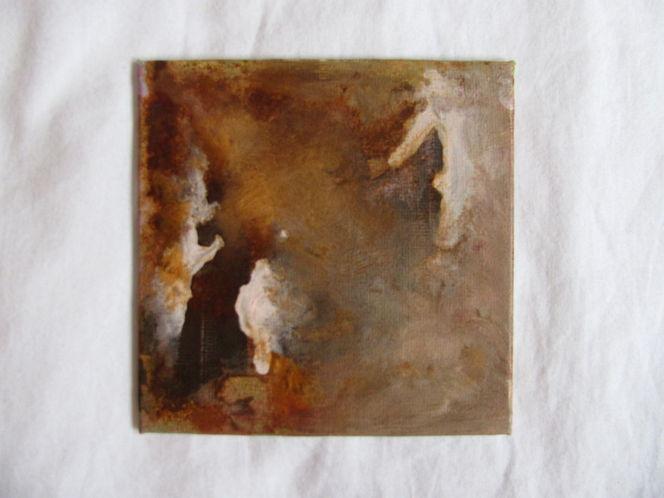 Erdtöne, Acrylmalerei, Abstrakt, Rost, Mischtechnik, Malerei