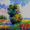 Landschaft, Sonnenblumen, Natur, Bunt
