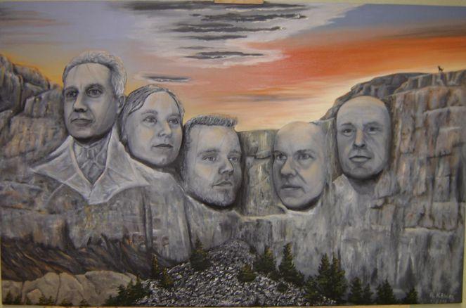 Rushmore, Berge, Malerei,