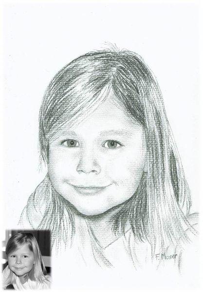 Kind portrait, Kind, Zeichnungen, Menschen, Portrait