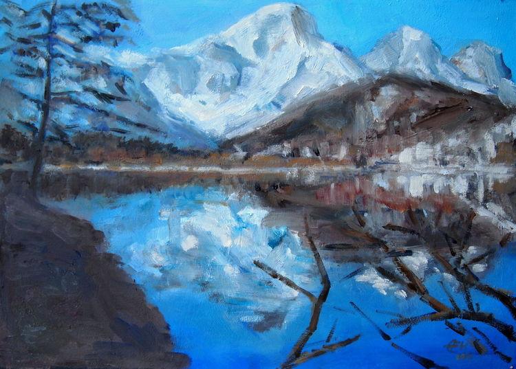 Wasser, Schnee, Berge, Frühling, See, Natur