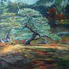 Impressionismus, Natur, Vegetation, Japanischer garten