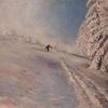 Ölmalerei, Winter, Malerei, Impressionismus