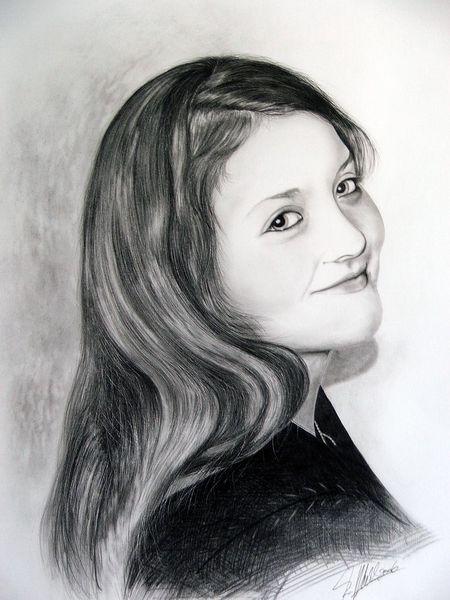 Portrait, Menschen, Frau, Malerei