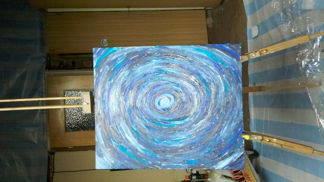 Abstrakt, Kalt, Expressionismus, Malerei