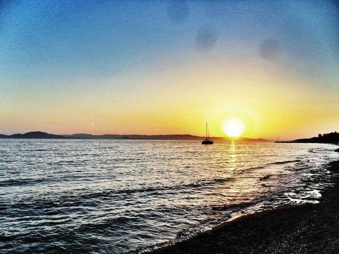 Einsamkeit, Meer, Sonne, Wolken, Fotografie, Griechenland