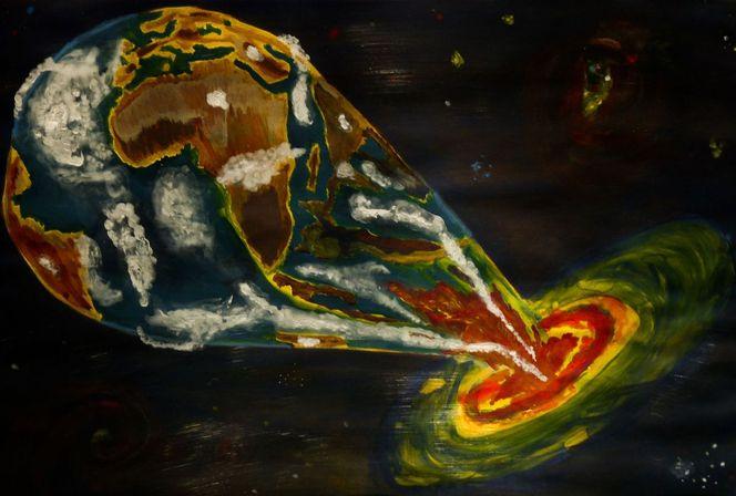 Malerei, Erde, Loch
