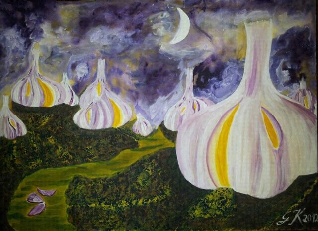 Malerei, Fantasie, Knoblauch