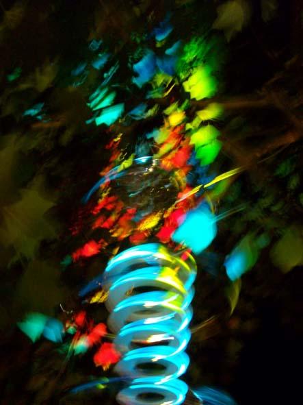 Lightflower, Leuchtend, Landung, Zukunft, Nacht, Objekt