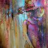 Person, Gesicht, Akt, Ölmalerei