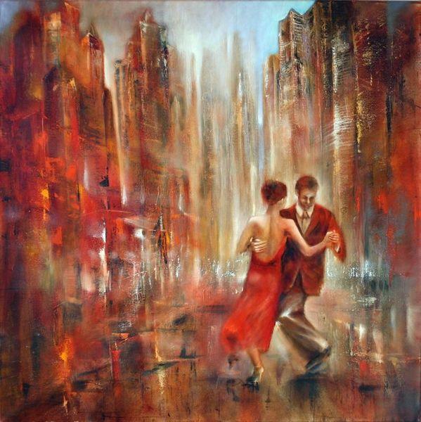 Entspannung, Tanz, Leichtigkeit, Freude, Tango, Malerei