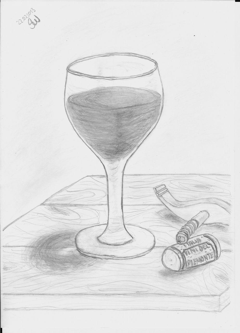 bild zeichnungen stillleben anfang glas von grillmaster bei kunstnet. Black Bedroom Furniture Sets. Home Design Ideas