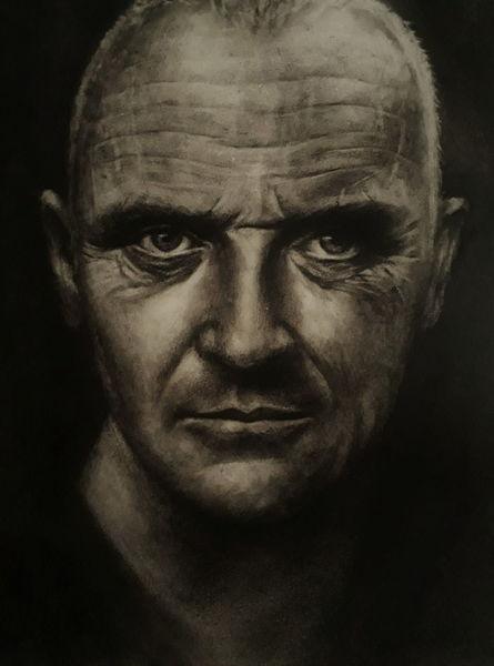 Mann, Menschen, Portrait, Ölmalerei, Malerei, Dry brush technique