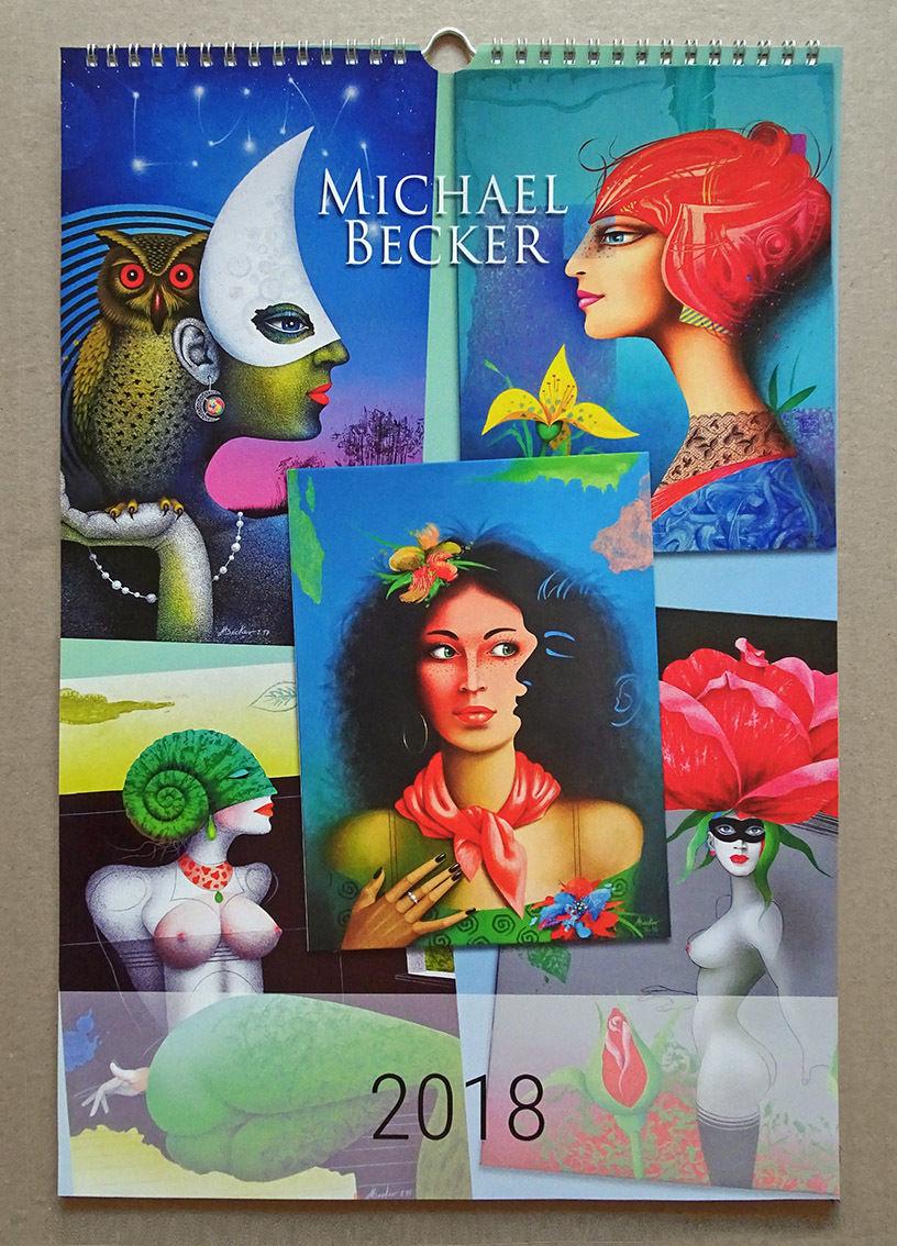 kunstkalender 2018 jahreskalender bilderauswahl wandkalender pinnwand von michael becker. Black Bedroom Furniture Sets. Home Design Ideas