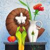 Blumen, Illustration, Ammonit, Pfirsich