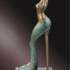 Schuhe, Skulptur, Mode, Bronze