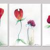 Blüte, Illustration, Blumen, Buntstiftzeichnung