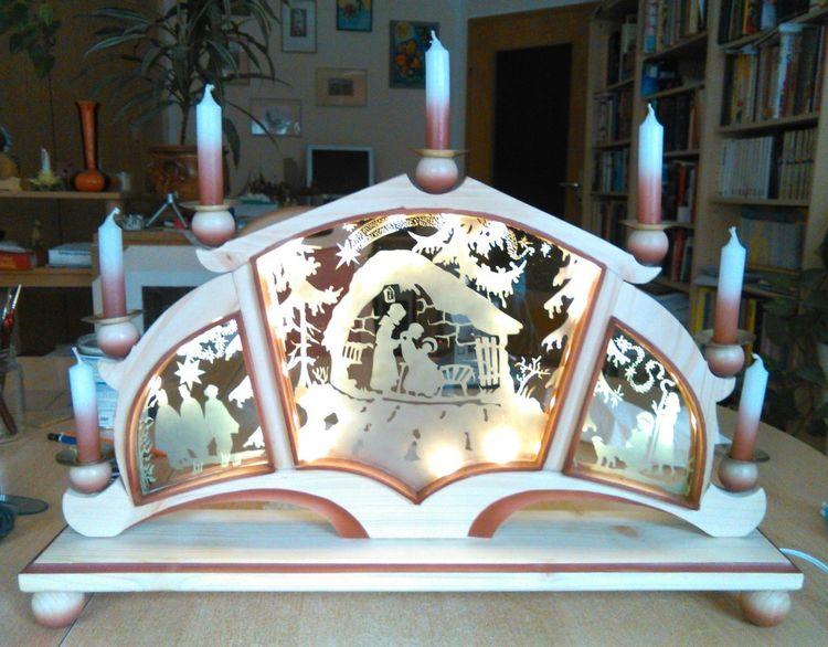 Kunsthandwerk, Glas, Tradition, Weihnachten, Modern, Schwibbogen