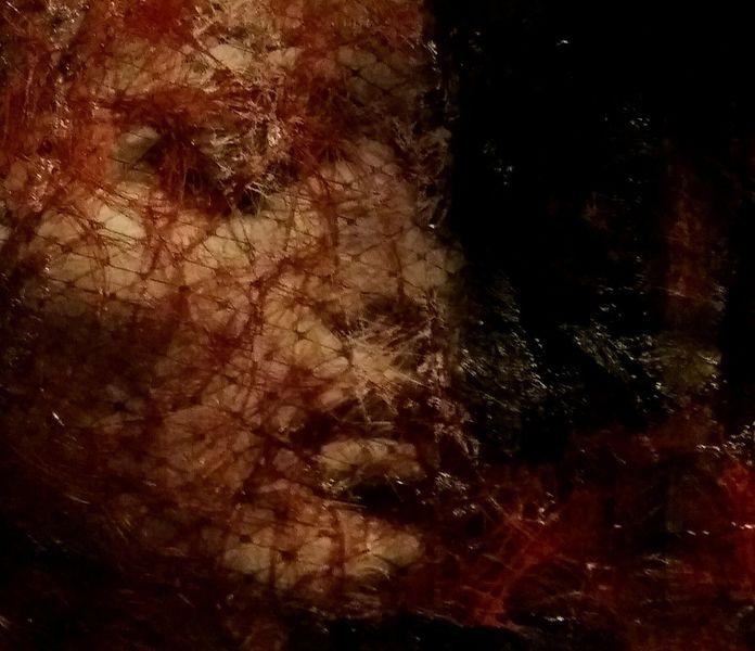 Frau, Collage, Geheimnisvoll, Portrait, Sinnlichkeit, Mischtechnik