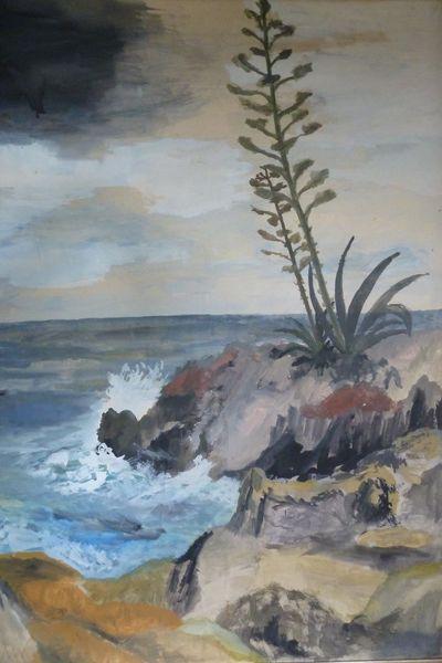 Mittelmeer, Agaven, Cap ferrat, Malerei, Cote, Dazur